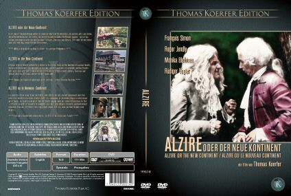 DVD cover of Alzire or the New Continent